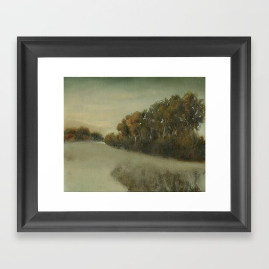 misty landscape Framed Art Print