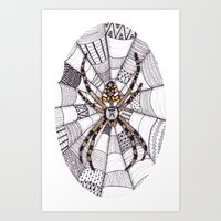 spider Art Prints featuring Spider by Laura Maxwell
