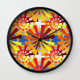 colorful gear wheels Wall Clock
