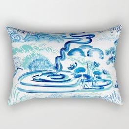 Modern Asian Landscape Rectangular Pillow