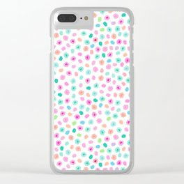 Unicorn Spots Clear iPhone Case