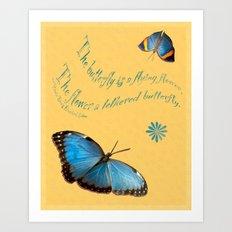 Butterflies like Flowers Art Print