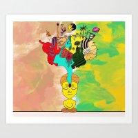 chakra Art Prints featuring Chakra by Omnii