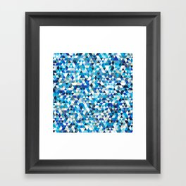 Icy triangles Framed Art Print