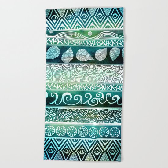 Dreamy Tribal Part VIII Beach Towel