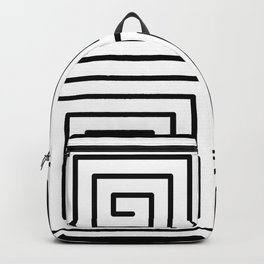 Square Swirl Pattern Backpack