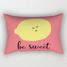 Ironic Lemon Says Be Sweet (Pink) Rectangular Pillow