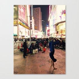 New York City Street Performer Handstand Canvas Print