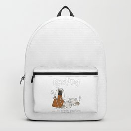 Christian Design - Sheep with Good Shepherd Resting in Green Pasture - Psalm 23 Backpack