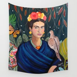 Frida et sa nature vivante Wall Tapestry