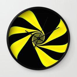 Abstract. Yellow+Black. Wall Clock