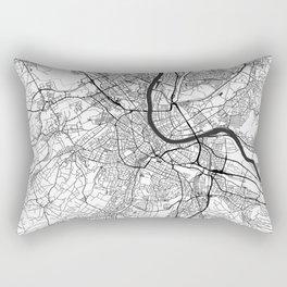 Basel Map Gray Rectangular Pillow