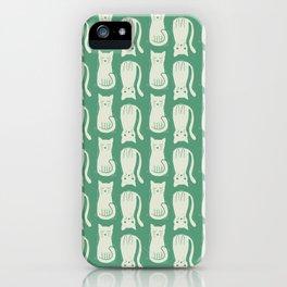 Block Print Kitties iPhone Case