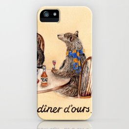 Three Bears Having Dinner iPhone Case