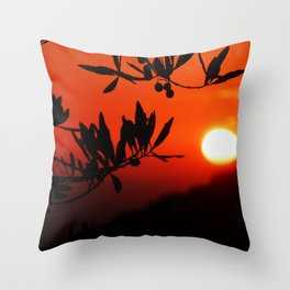 Italian Sunset Throw Pillow