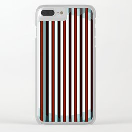 Abstract color design print Clear iPhone Case