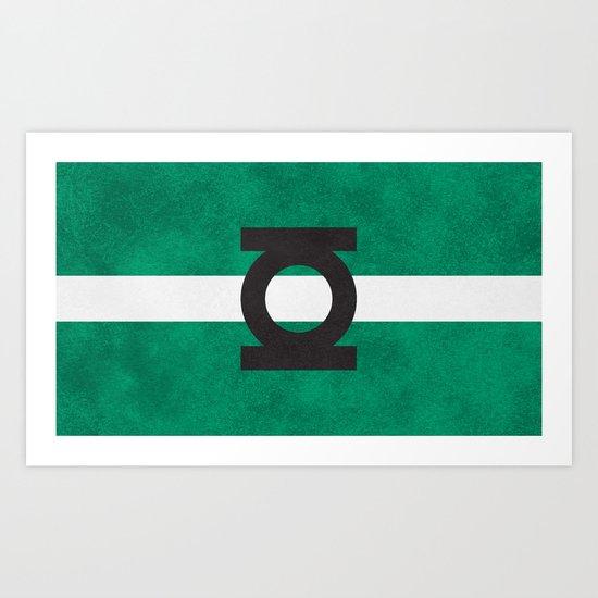 Color Greens Art Print