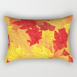 Autumn maple leaves Rectangular Pillow