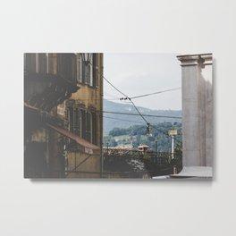Quiet street in Bergamo, Italy Metal Print