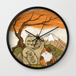 Maneki Neko Wall Clock