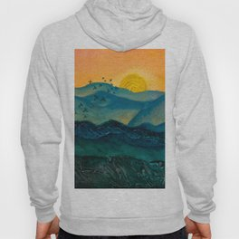 Textured mountainscape Hoody