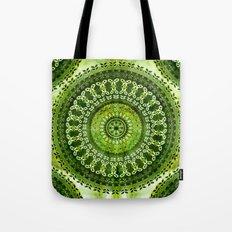 Vintage Lime Mandala Tote Bag