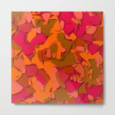 red camouflage Metal Print