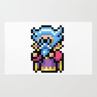 final fantasy Area & Throw Rugs featuring Final Fantasy II - Tellah by Nerd Stuff