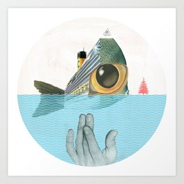 Fish & sChips Art Print