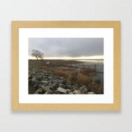 Foreshore January Sunset Framed Art Print