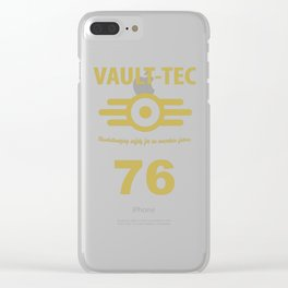 Vault 76 // Fall out design // Gaming Clear iPhone Case