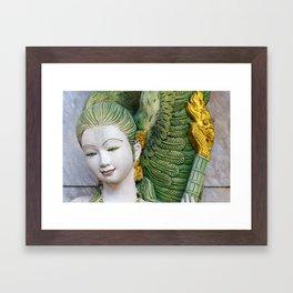 Face of serenity Framed Art Print