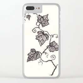 Black Ink Ivy Clear iPhone Case