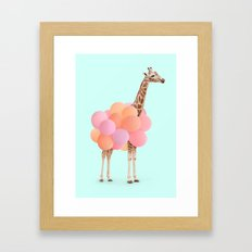 GIRAFFE PARTY Framed Art Print
