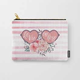 La Vie en Rose (Rose Colored Glasses) #society6 Carry-All Pouch