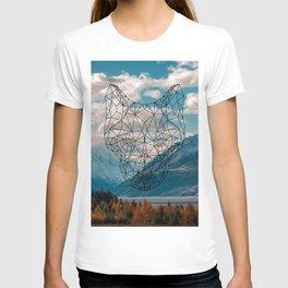 Wolf nature mountain T-shirt