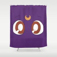 luna Shower Curtains featuring Luna by karla estrada