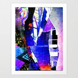 Blissful Purple Art Print