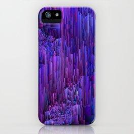 Hidden Cave - Abstract Pixel Art iPhone Case
