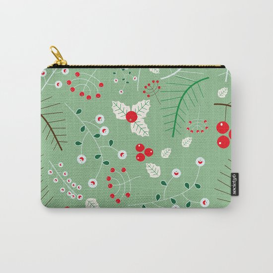 Mistletoe green Carry-All Pouch