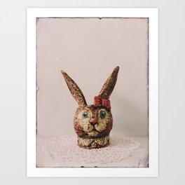 Bunny Bow Bunny Art Print