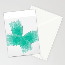 """""""KEEP GROWING!"""" -RAPID GROWTH LEAVES Stationery Cards"""