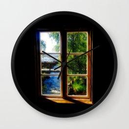Window with a view 4 Kukkola river Wall Clock