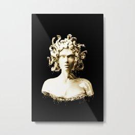 Gold Medusa Metal Print