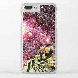 Walk On The Wild Side Clear iPhone Case