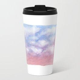 Sunset Clouds Watercolor Travel Mug