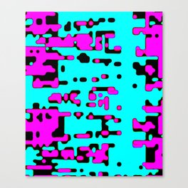 jitter, violet and blue 7 Canvas Print
