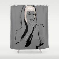musa Shower Curtains featuring Musa de Platino by RobGiordano4
