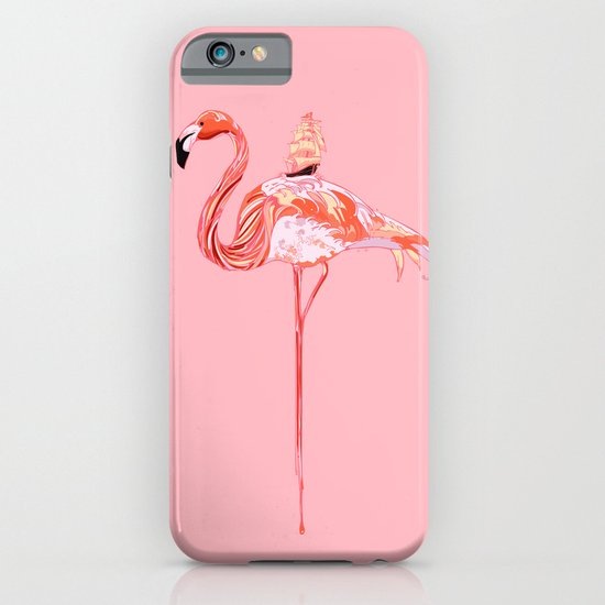 Flamingo & Sea iPhone & iPod Case