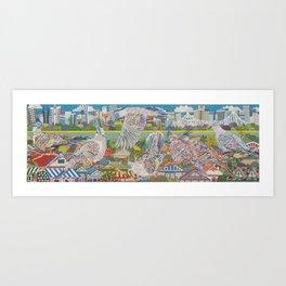 Topknot  Pidgeons Art Print